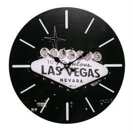 Relógio De Parede Yaris Cities 33,8Cm - Las Vegas