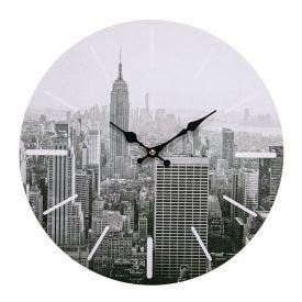 Relógio De Parede Yaris Cities 33,8Cm - Nova Iorque