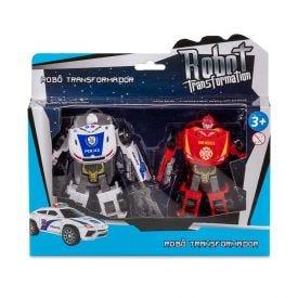 Robô Transformer Havan - HBR0039 - Vermelho e Branco