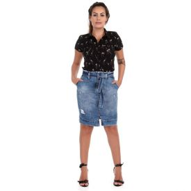 Saia Jeans Clochart Sawary Blue