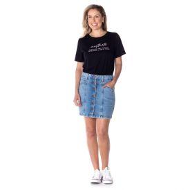 Saia Jeans com Botões Boby Blues Blue