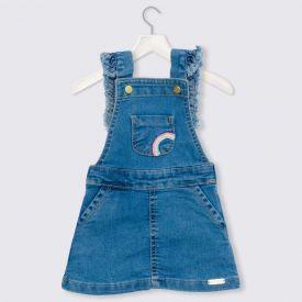 Salopete de Bebê Jeans Arco Íris Yoyo Baby Jeans