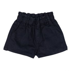 Short de 4 a 10 Anos Jeans Black Papperbag Marmelada Preto