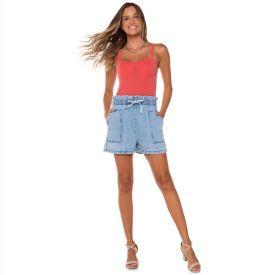 Short Jeans com Bolsos Boby Blues Light Blue