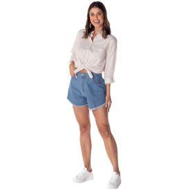 Short Jeans Godê com Bolsos Sawary Azul