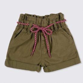 Shorts 1 a 3 anos Jogger de Sarja Yoyo Kids Musgo
