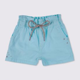 Shorts 4 a 10 anos Sarja Jogger Marmelada Azul Bebe