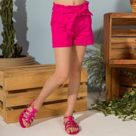 Shorts 4 a 10 anos Sarja Papperbag Marmelada