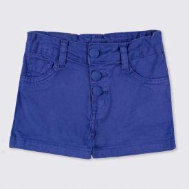 Shorts 4 a 10 anos Sarja Vista Botões Marmelada Gray Blue
