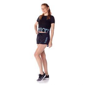 Shorts com Silk Scream Preto