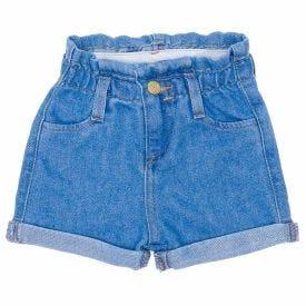 Shorts de Bebê Jeans Clochard + Barra Dobrada Yoyo Baby Indigo
