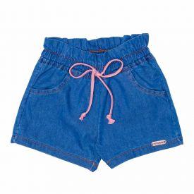 Shorts de Bebê Jeans Clochard + Cordão Yoyo Baby Indigo