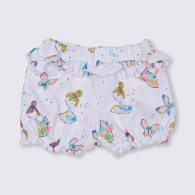Shorts de Bebê Menina Balé Colorido Yoyo Baby Estampado