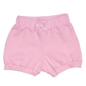 Shorts de Bebê Ribana Laço Yoyo Baby Rosa Claro