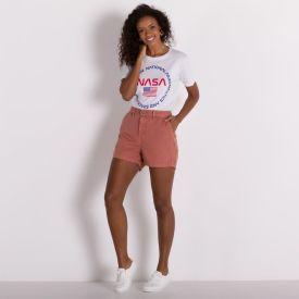 Shorts de Sarja Mom Patricia Foster Terracota