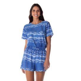 Shorts em Tie Dye Boby Blues Azul