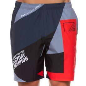 Shorts Energy Fila  Preto/Vermelho