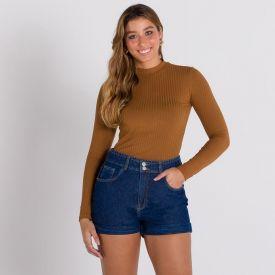 Shorts Jeans Mom Patrícia Foster Azul Escuro