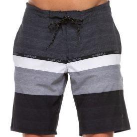 Shorts Listrado com Bolsos Nicoboco Cinza
