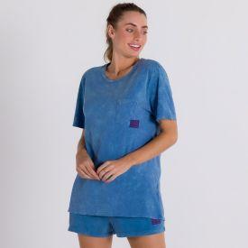 Shorts Marmorizado Moletinho Scream Azul