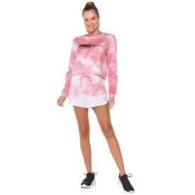 Shorts Moletom Lavação Cores Scream Rosa