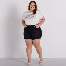 Shorts Plus Size Barra Patricia Foster Mais Black