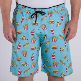 Shorts Plus Size com Elastano Estampado Marc Alain Fast Food