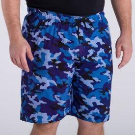 Shorts Plus Size com Elastano Estampado Marc Alain Camufla Pais