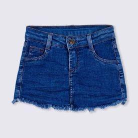 Shorts Saia 4 a 10 anos Jeans Barra Desfiada Marmelada Jeans