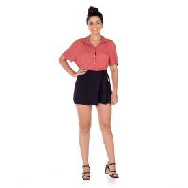 Shorts Saia Bengaline Patrícia Foster Preto
