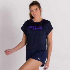 Shorts Training Elastic Fila Azul Marinho