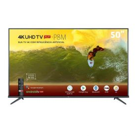 """Smart Tv Led 50"""" 4K Hdr Android 50P8m Tcl - Bivolt"""