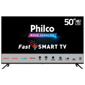 "Smart Tv Led 50"" 4K Ptv50g70sblsg Philco - Bivolt"