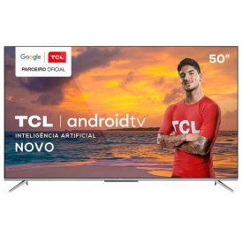 """Smart Tv Led 50"""" 4K Uhd Android P715 Tcl - Bivolt"""
