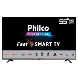 "Smart Tv Led 55"" 4K Ptv55q20snbl Philco - Bivolt"