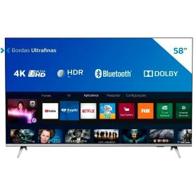 "Smart Tv Led 58"" 4K Uhd Philips 58Pug6654/78 - Bivolt"