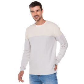 Suéter com Recorte Thing Areia
