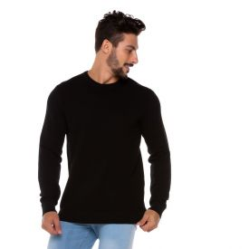 Suéter Tricot Decote Redondo Thing Preto