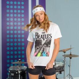 T-Shirt Beatles na Faixa BandUP Branco