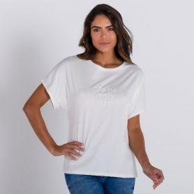 T-shirt com Estampa Bordada Patrícia Foster New Off