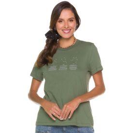 T-shirt Constelações Signos Patrícia Foster Verde