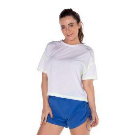T-Shirt Costura Contrastante Scream Branco
