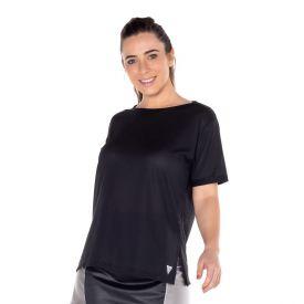 T-Shirt Dry com Aplique Scream Preto