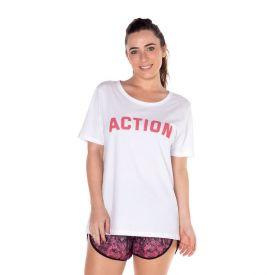 T-Shirt em Malha com Estampa Scream Branco