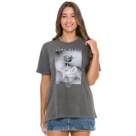 T-shirt Estonada Estampa Rosa Boby Blues