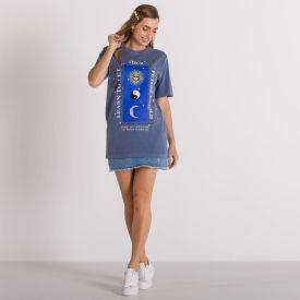 T-Shirt Estonada Mística Boby Blues Azul