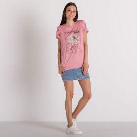 T-Shirt Feminina com Estampa de Flor Boby Blues