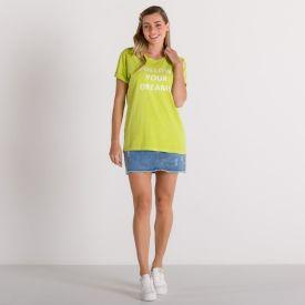 T-Shirt Follow Your Dreams Boby Blues Verde Lima