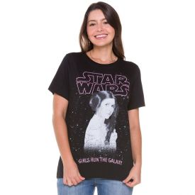 T-shirt Leia Star Wars Disney Preto