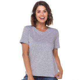 T-Shirt Lisa Não Torce Não Encolhe Patricia Foster Mescla